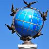 Знак нулевого километра (Глобус)