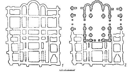 план соборов, найденных на территории Михайловского монастыря