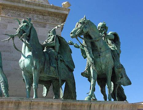 венгерские воины из Будапешта