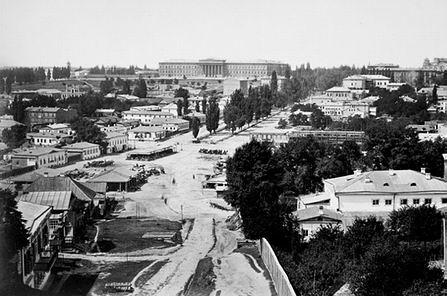 вид на Бессарабский рынок XIXв.