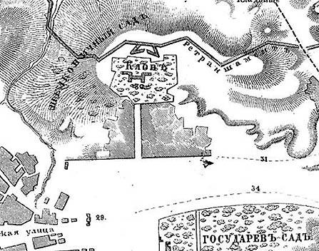 Клов на карте XIXв