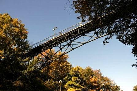 Парковое провалье.Мост