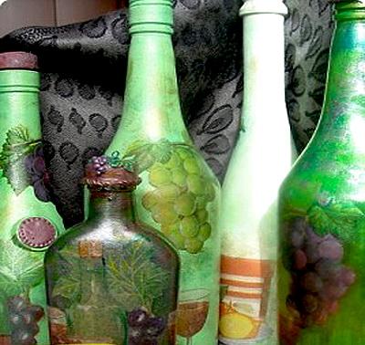 расписные бутылки сувенирные