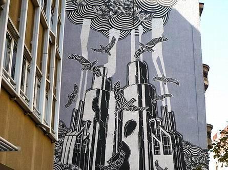 фреска M-City (Мариус Варас) в Польше