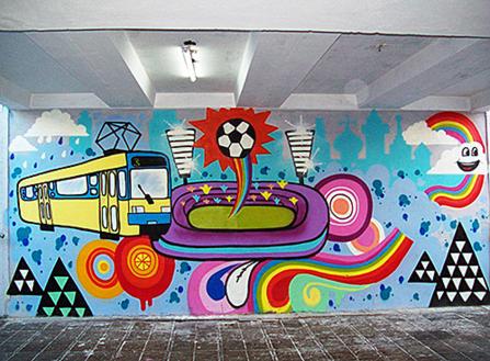 граффити-трамвай