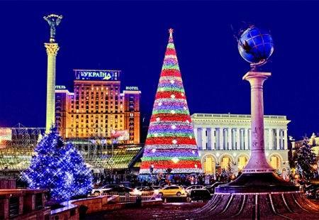 Космический пейзаж  - Новый год 2012