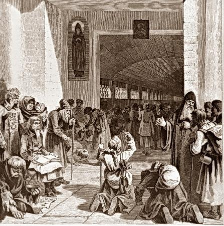 паломники в Лавре
