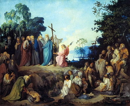 Н.Ломтев. Апостол Андрей водружает крест