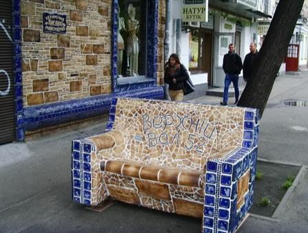 Керамический диван