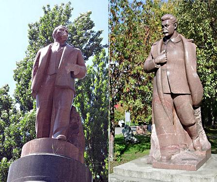 В.Ленин и И.Сталин гранитные