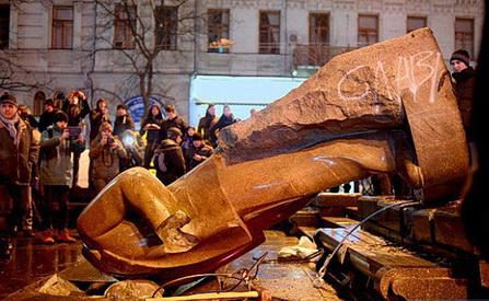 последнее фото памятника В.Ленина